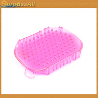 (Free Shipping CPAM) 2013 Anti Cellulite Body Massager Silicon Exfoliater brush Glove Scrub Bath/Shower H-163A