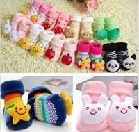 18 Styles cute Cartoon animals shoes baby socks, new born shoes non slip Slipper Boots, sunflower/stars/panda pattern