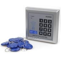 New RFID Proximity Keypad Entry Lock Door Access Control System + Free 10 Keyfobs K2000