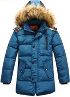 free shipping ! Children down jacket, 90 white duck down boy short down jacket