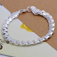 Free Shipping Wholesale 925 Sterling Silver Bracelets & Bangles,925 Silver Fashion Jewelry,double box Bracelet SMTH137