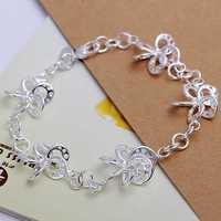 Free Shipping Wholesale 925 Sterling Silver Bracelets & Bangles,925 Silver Fashion Jewelry,Streaky Bracelet SMTH140