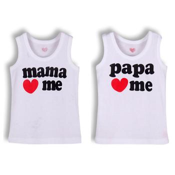 8 pcs/lot PaPa MaMa love me 100% cotton Children Tees infant vest baby t shirt kids t-shirt kids t shirts boys summer wear