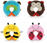 Free Shipping Cartoon Pillow Cushion Care Pillows U Shape Zoo Neckrest little children kid travel neck rest