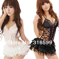 Free Shipping New 2014 Sexy Lingerie Hot Lace Erotic Costumes Women Sleepwear Clothing Set  Princess Bra&Nightwear US1195