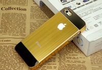 New Arrival Luxury Brushed Aluminum Metal Case Hard Back Cover Cell Phone Case For iphone 5 5S