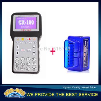 2014 Purple Color CK100 Auto Key Programmer Tool & Super MINI ELM327 Code Reader Auto Car Diagnostic Tool