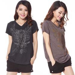 2015 Summer Plus Size Clothing Embroidery V-Neck Short-Sleeve T-Shirt Female Large Size Clothing Free Shipping