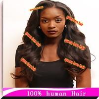 big curls Brazilian Virgin Human Hair BODY Wave Glueless Full Lace Wig & Human Lace Front Wig for Black Women Free shipping