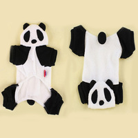 Fashion pet dog panda hoodie costume clothes Halloween necessary Teddy bear appearel coat for small dogs, Hot sale Free Shipping
