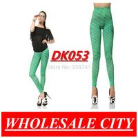 2013 Spring Summer Leggings For Women Fish Pattern Green Mermaid Elastic