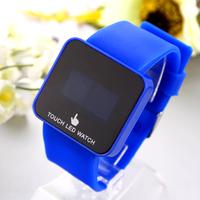 2014 New 10pcs/lot Sport Watches LED Wristwatches Plastic Case Glass Digital Square Unisex Watch