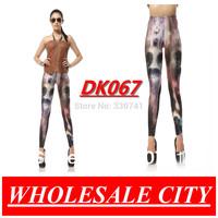 2013  Fashion The Nightmare Before Christmas Printing Stretch Skinny  Galaxy  Leggings Slim Elastic