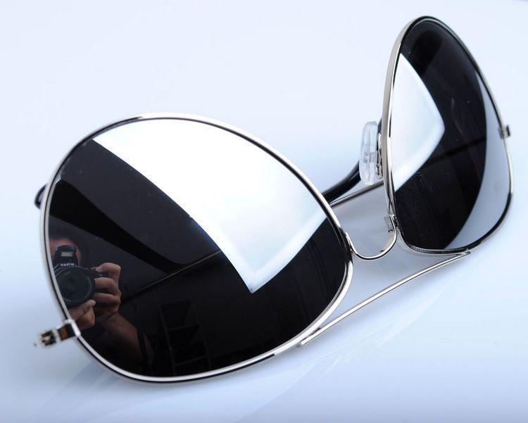 2014 reflective unisex retro metal rim aviator pilot name brand designe sunglasses for sun glasses sports manphotochromic(China (Mainland))