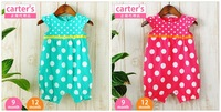 Baby girl romper/Candy color polka dots baby romper/2013 summer new arrival