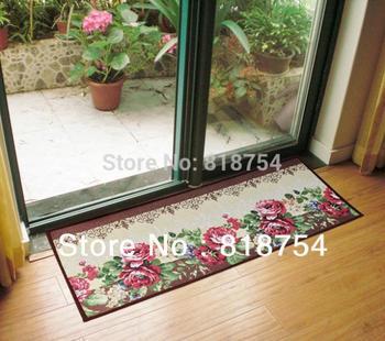 2015 Tapis Felpudo Real Carpet Kitchen 45*115cm Home Decoration Vintage Flower Slip-resistant Mats Mat Doormat Absorbent Pad