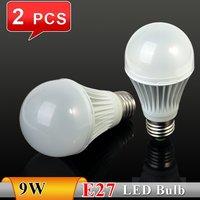 2PCS 2012NEW 9W E27 AC85~265V white/warm white LED Bulb Light Spot Light For Retail and wholesale