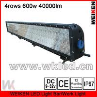 4 rows offroad ATV UTV SUV waterproof IP67 52inch 600w 40000lm led work light bar