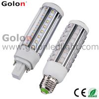 G24 LED PL light  5W, 7w,9w,11w,LED corn bulb G23-2,Gx23-2, E27,E26 100-277VAC,50pcs/lot, 3 years warranty  Fedex  free g24 led
