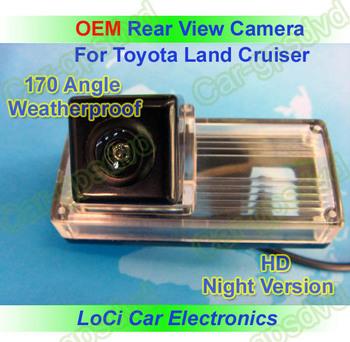 Free shipping! HD Rear View Toyota Land Cruiser 200,Reiz CCD night vision car reverse camera auto license plate light camera