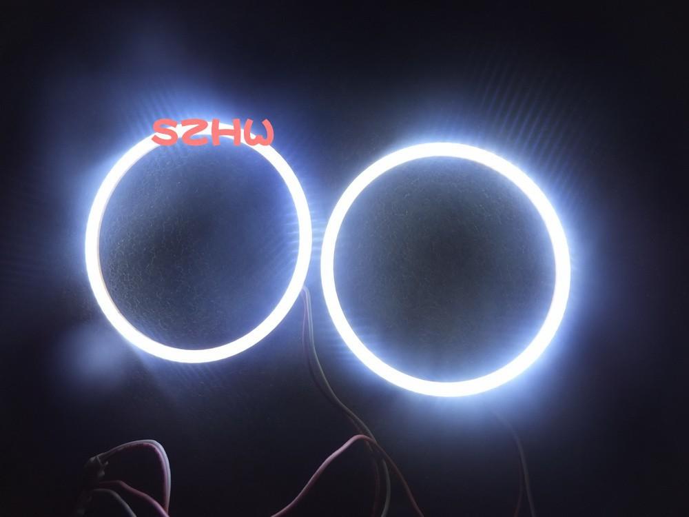 80mm diameter, 2pcs/lot ,Super bright waterproof LED angel eyes rings, COB lens, Q5 Hella, big lamp, Car Decorative Lights(China (Mainland))