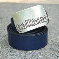 100% Genuine Leather 2014 Metal plate Buckle Designer Wide Men Luxury Brand Belts Vintage Blue Belt Male Strap  Cinto  MBT0010