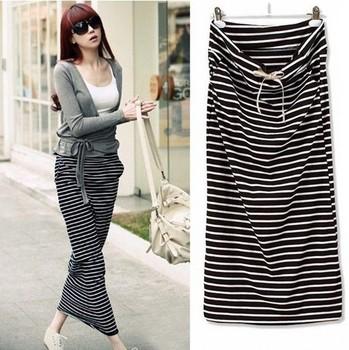 2014 Brand Summer Skirts For Women/Designer Casual Striped Women Skirts/Straight ...