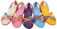 free shipping 2013 summer EVA Colorful jelly sweet campus style Colorful women garden shoes 1316 four size five colors