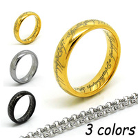 My Precious!  Gold / Silver / Black Color 6mm Tungsten Carbide Ring 18k + Stainless Steel Chain Fashion Jewelry The One Ring
