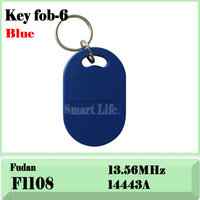 100pcs RFID fudan f08 Key tag Token Key Tags Keyrings (Keyfobs)--free shipping