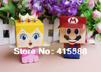 100 pcs / lot Creative Mario Bros candy box wedding gift box candy cartoon