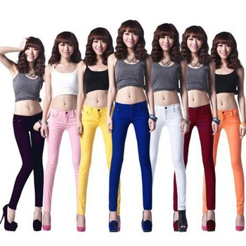 2014 New Free shipping S-XXL Women pencil pants Full  trousers Free Fashion Skinny pants 24 colors HL01