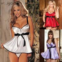 Hot Sale Sexy Lingerie Hot Women diaphanous pajama Sleepwear Free Shipping  Plus Size S M L XL 2XL 3XL 4XL 5XL 6XL
