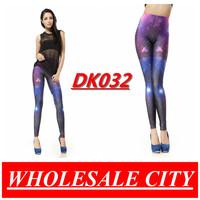 2013 DROP SHIPPING Fashion Women Leggings Galaxy Space Purple Elastic Pencil Pants Space Printed