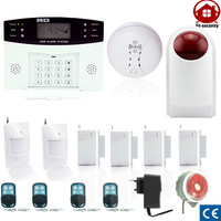 gsm wireless home burglar security alarm Detector Sensor Kit smoke detector outdoor siren home security system