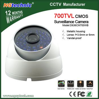 New! 700TVL CMOS CCTV Outdoor Metal white Dome camera vandal proof  IR Camera + Free shipment