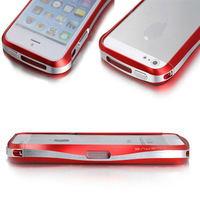 Luxury Aluminum Metal Double Color bumper cell phone cover Case For apple iphone 5 5s accessories