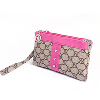 Free shipping 2013  cowhide leather + PU leather features double Colorado Women's wallet wholesale cell phone package