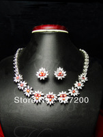 necklace earrings set wedding accessories bride banquet necklace