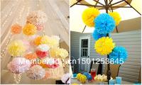 "10pcs 35cm(14"") Tissue Paper Pom Poms Flower Balls wedding/  Banquet /Party /christening/  woodland  decoration"