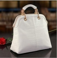 2013 women's weidi polo brand  composite genuine leather handbag high quality elegant  crocodile pattern  totes