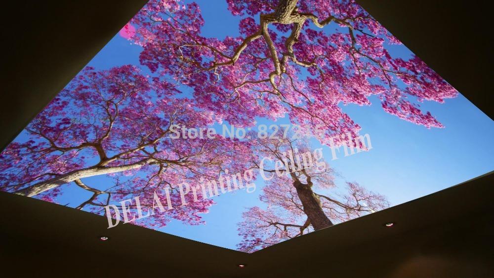 Потолочная плитка DELAI t/1014 T-1014 Tree Printing Stretch Ceiling Film женские часы appella 4268q 1014
