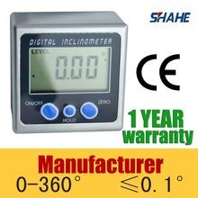 Digital Bevel Box Angle Gauge Meter Protractor 360 degrees Magnets Base Inclinometer(China (Mainland))