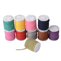 Free shipping 10 Rolls 3mm Jewelry DIY Random Multi-colors Korean Suede Cord (3 meters/roll), Necklace & Bracelet Cord