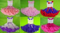 Fashion baby girls lovely flower skirt Girl petti princess fluffy tutu pettiskirts  with many colors Free shipping