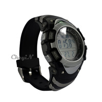 Multi function Digital sunroad FX704A Gray Digital Fishing Barometer 3ATM Waterproof Wrist Watch Thermometer Altimeter