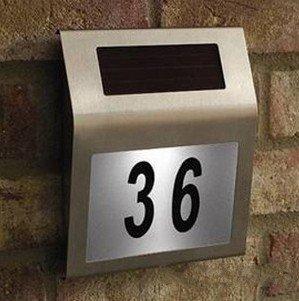 Solar House Number Plate Light 2 Led + Stainless Steel Solar Doorplate Solar House Number(China (Mainland))
