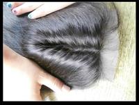 "FREE SHIPPING,Silk top closure hair,silk base closure swiss lace 4\""*4\"" no shedding and tangle free"