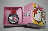 Free Shipping 1pcs retail wholesale Fashion Hello Kitty watch + box Ladies Women's Girls Quartz Wrist Watch Christmas Gifts.