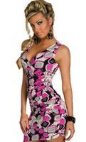 vestido de renda curto fashionable irregular geometrical Print Crossover V-neck gorgeous Dress new 2014 vestidos summer dress